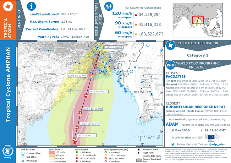Tropical Cyclone Amphan infographic