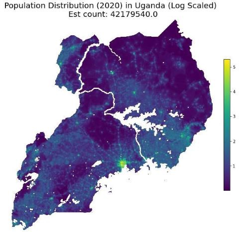Estimating population in African countries using geospatial data - Source: Omdena