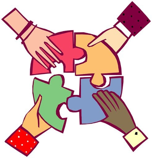 Collaboration in Omdena's challenges - Source: Clipart Library