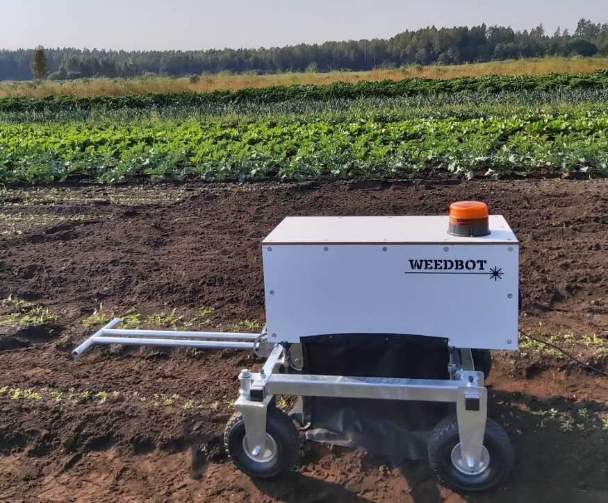 For this task, technical characteristics of the second laser weeding prototype developed by WeedBot was used.