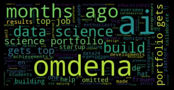 Word cloud NLP tutorial- Source: Omdena